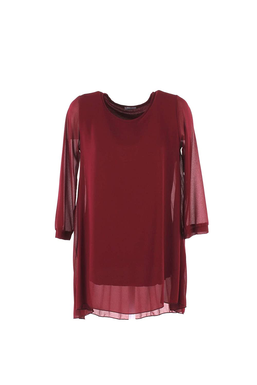 BERNA Camicia Donna XS Bordeaux Be-76086 Autunno Inverno 2018/19