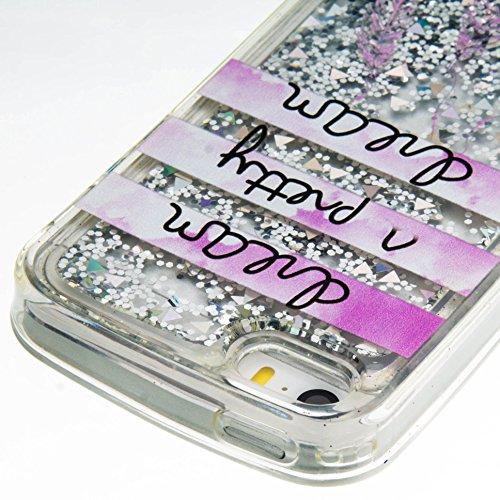 Für Apple iPhone 5 5G 5S / iPhone SE (4 Zoll) Hülle ZeWoo® TPU Schutzhülle Silikon Tasche Case Cover - GS131 / Text Campanula