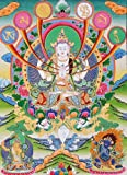 The Patron Deity of Om Mani Padme Hum - Tibetan Thangka Painting