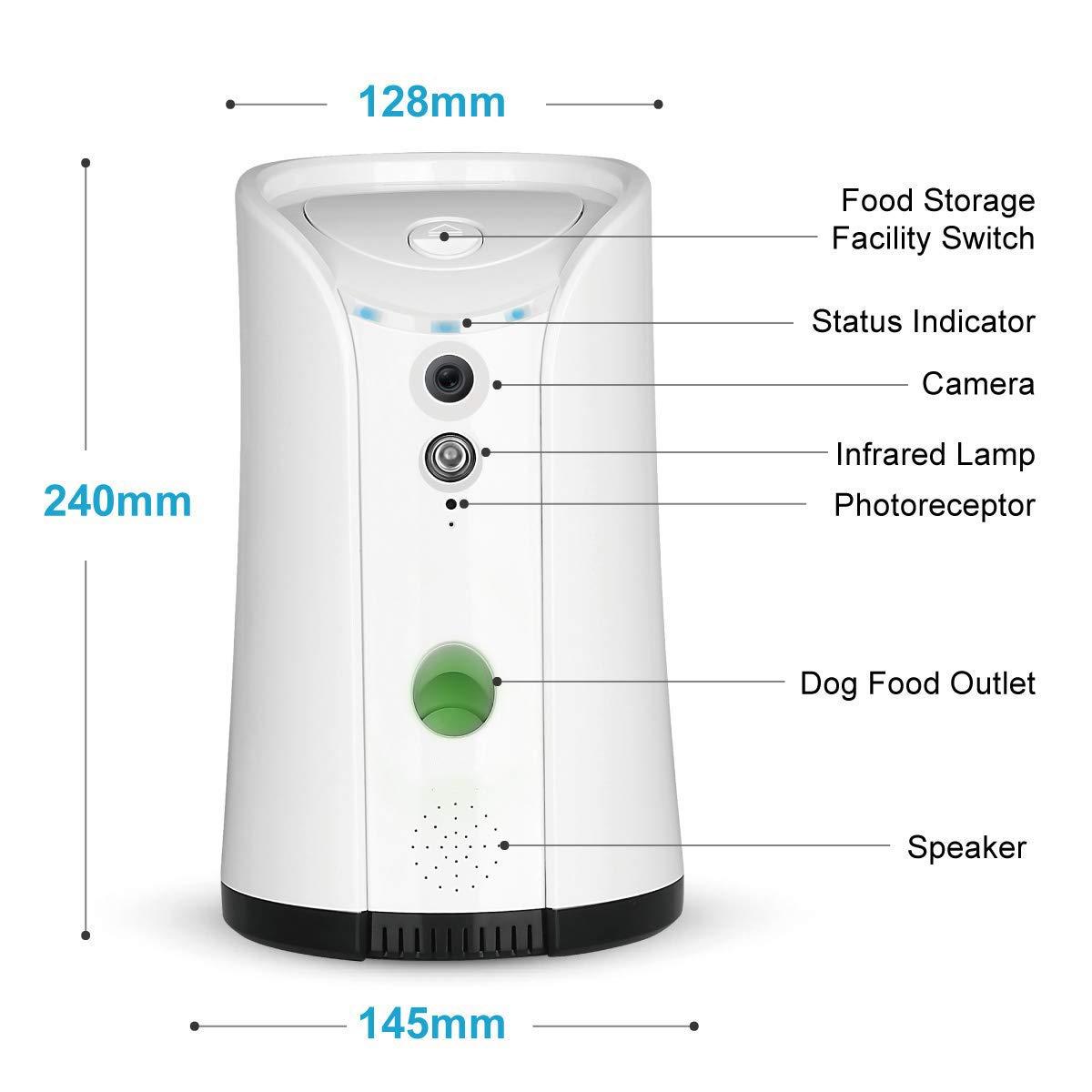 Petalk AI Dog Camera Treat Dispenser, Cámara remota para Mascotas WiFi con Audio bidireccional y visión Nocturna: Amazon.es: Hogar