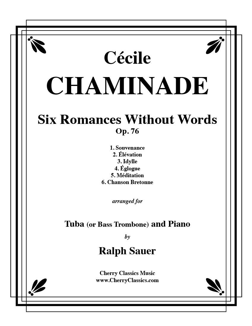 Six Romances Without Words, Op 76 for Tuba or Bass Trombone and Piano pdf epub