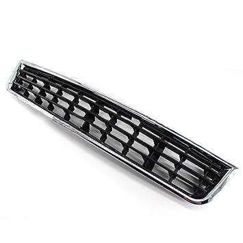 Rejillas de ventilación inferior para parachoques delantero de coche, cromado, para coche