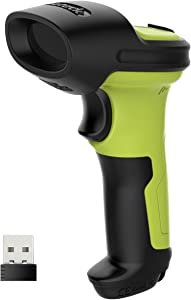 Barcode Scanner, Inateck Wireless Scanner, 2600mAh Battery, 35M Range, Automatic Scanning, BCST-60 Green