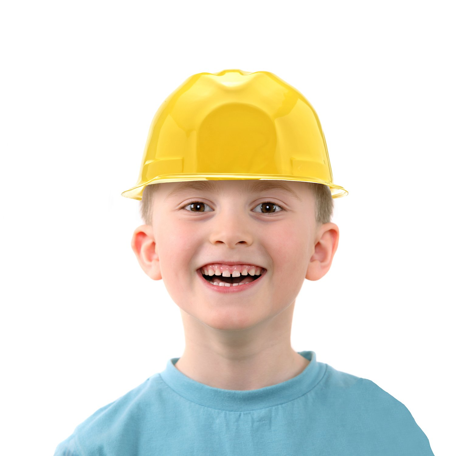 Bottles N Bags 24 Pack of Child Size Plastic Yellow Construction Hats for Young Builders by by Bottles N Bags (Image #4)