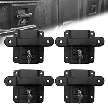 Up To 1000 Lbs Boxlink Tie Down Anchors for Ford F150 F250 F350 Raptor 2015-2020 with Lock Buckle,Truck Bed Hook Mounting Cleats Plates and Anti-Theft Screws