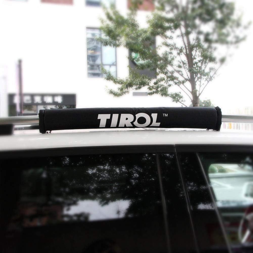 Topuality Tirol 2 Stück Schutzpolster Abdeckung Für Alu Relingträger Dachträger Langlebig Auto