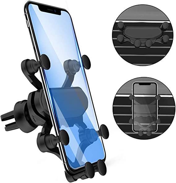 Universal Magnet Mount Auto Vent Holders for iPhone Samsung LG Smartphones and More Magnetic Phone Holder for Car 2 Pack