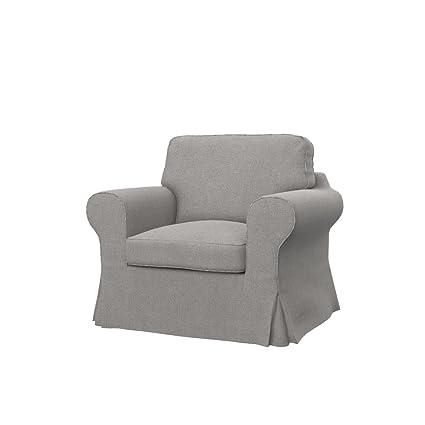 Soferia   IKEA EKTORP Armchair Cover, Glam Stone