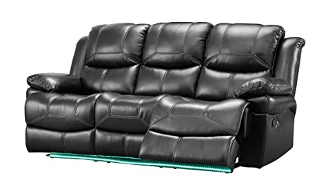 farrar furniture. Farrar Dual Power Motion Recliner Sofa In Black Furniture