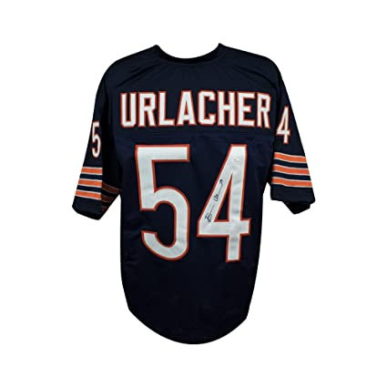 d9ab6f59395 Image Unavailable. Image not available for. Color  Brian Urlacher  Autographed Chicago Bears Custom Navy Football Jersey - JSA COA