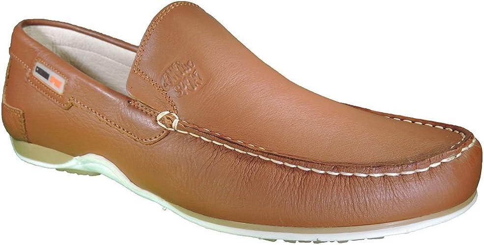 conjunción Cap Sinis  COMODO'SPORT Men's Boat Shoes Brown Size: 11: Amazon.co.uk: Shoes & Bags