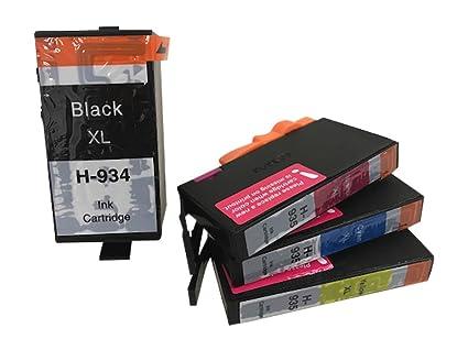 Cambio vago 4 cartuchos de impresora compatible para HP 934 ...