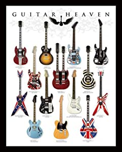 Pyramid America Guitar Heaven Famous Classic Electric Collection Rock Star Music Cool Wall Decor Art Print Poster 16x20