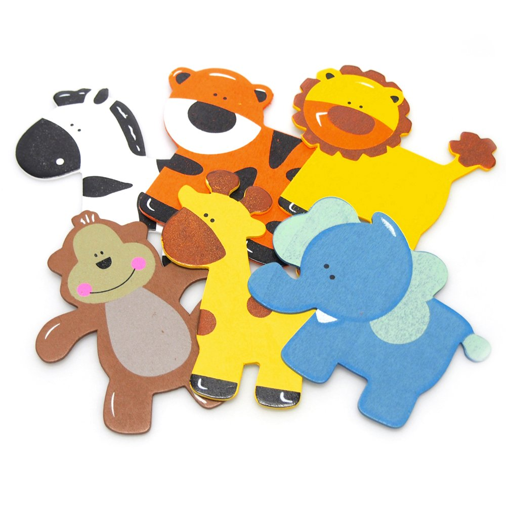 Homeford Assorted Safari Animals Wooden Favors, 5-Inch, 6-Piece by Homeford (Image #1)