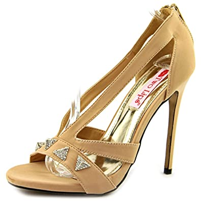 4ed61e6127 Two Lips Pyramid Women US 7 Nude Sandals