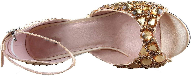 Scarpe Da Donna In Cristallo Color Champagne Con Sacchetto Abbinato Set Peep Toe Allegro