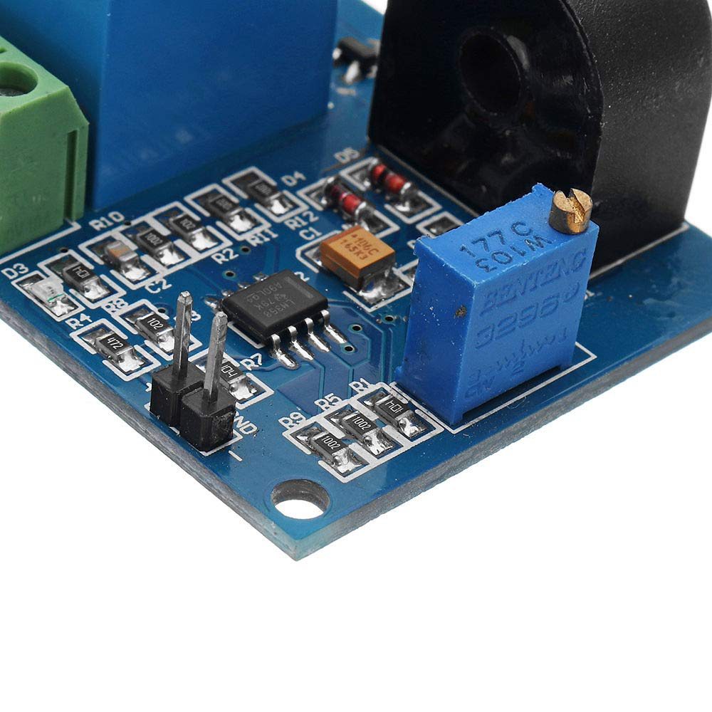 DC 12V AC Sensor Protection Relay Module 5A Over-Current Signal Switch Output