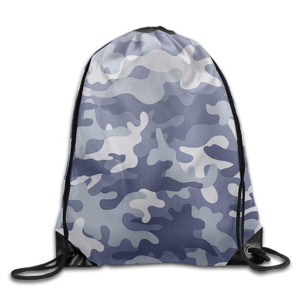 Admrユニセックス迷彩Basicsクラシック軽量巾着ジム袋バッグバックパックのハイキング水泳ヨガ B076PKKWR3