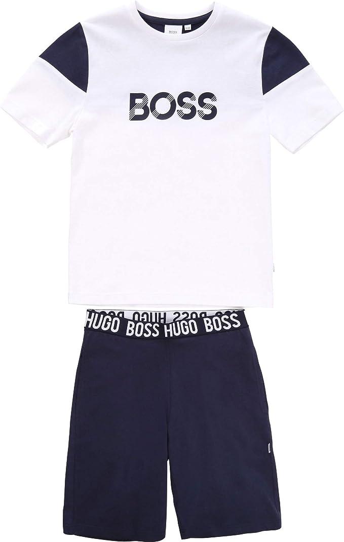 BOSS Ensemble T-Shirt + Bermuda Enfant: Amazon.
