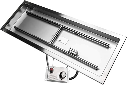 CSA Certified 36″ x 12″ Stainless Steel Rectangular Drop-in Fire Pit Pan