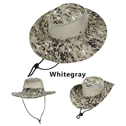 38bd3890f78 Image Unavailable. Image not available for. Color  HeroStore Outdoor Sports  Men   Women s Fishing Hat Camouflage Bucket Hat Fisherman Camo Ripstop  Jungle ...