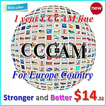 ARBUYSHOP Cccam Europa Cline servidor por 1 año por satélite ...
