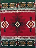 Southwest Native American Tribal Area Rug Red Concord Design C318 (8 Feet X10 Feet .)