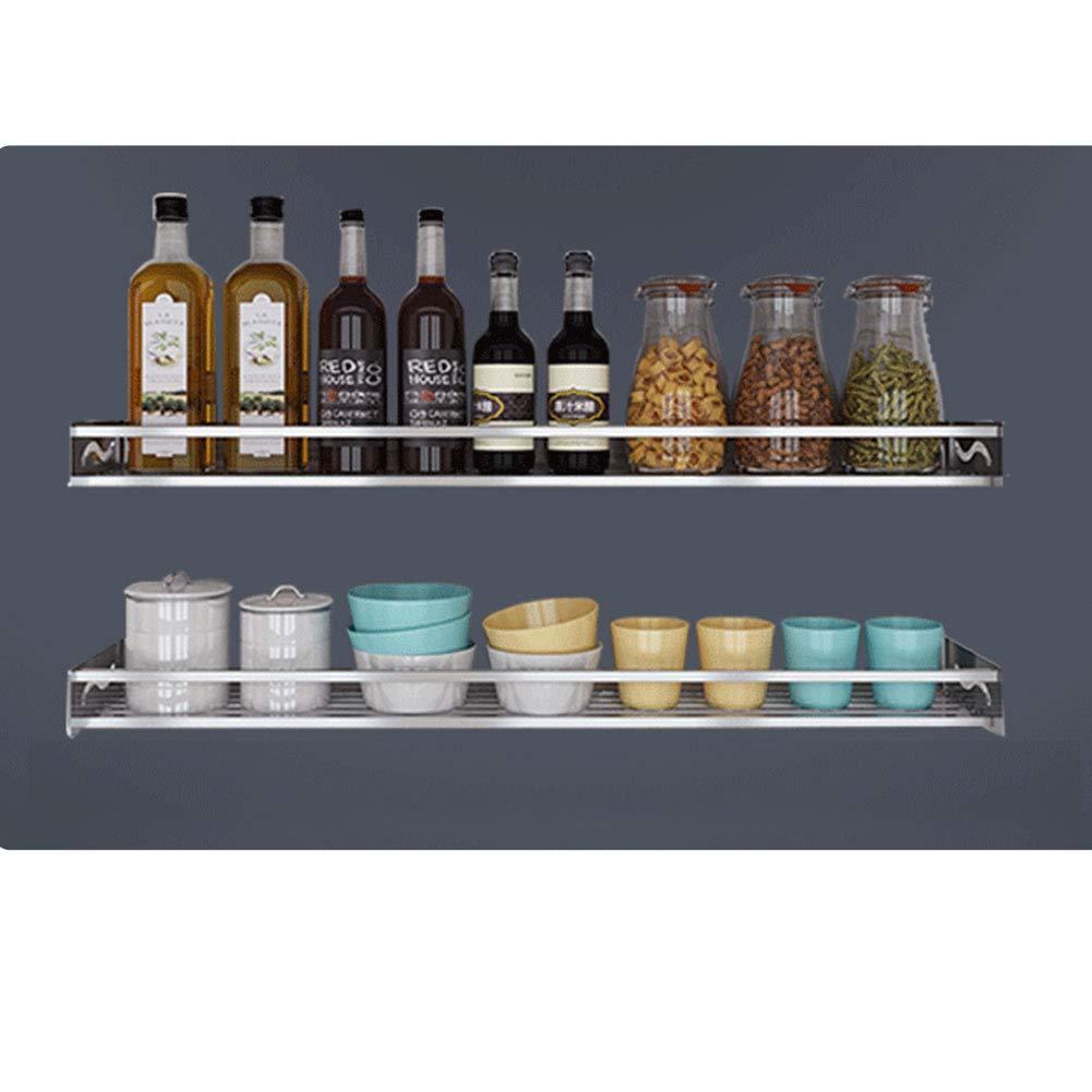 HaloVa Kitchen Shelf, 304 Stainless Steel Wall Mounted Kitchen Storage Rack, Kitchen Utensils Organizer Holder, No Need to Drill, 6 x 16 Inch