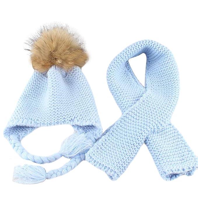 Conjunto de gorro y bufanda de invierno para niños de Ying 58a792b16bf