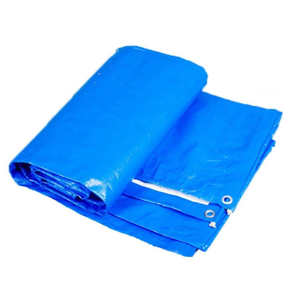 AJZGF Regenschutz Wasserdicht Plane, Wasserfeste Plane Isomatte, Ladung Sonnenschutzisolierung Anti-Aging, Blau (Farbe   Blau, größe   4x5M)