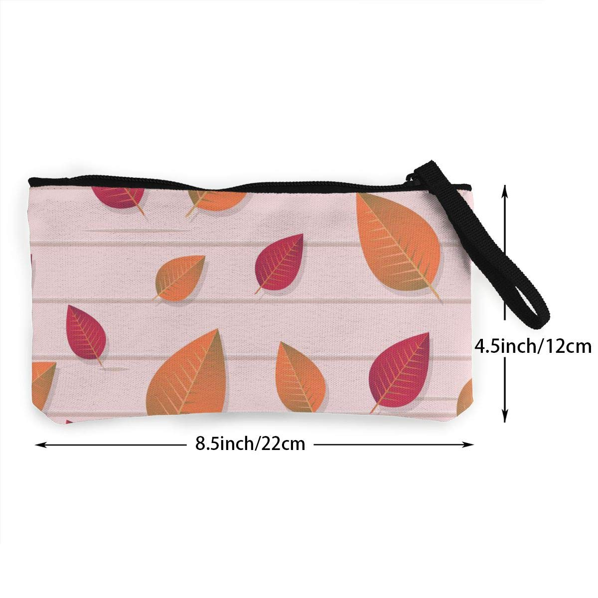 Yamini Red and Orange Oval Leaves Cute Looking Coin Purse Small and Exquisite Going Out to Carry Purse