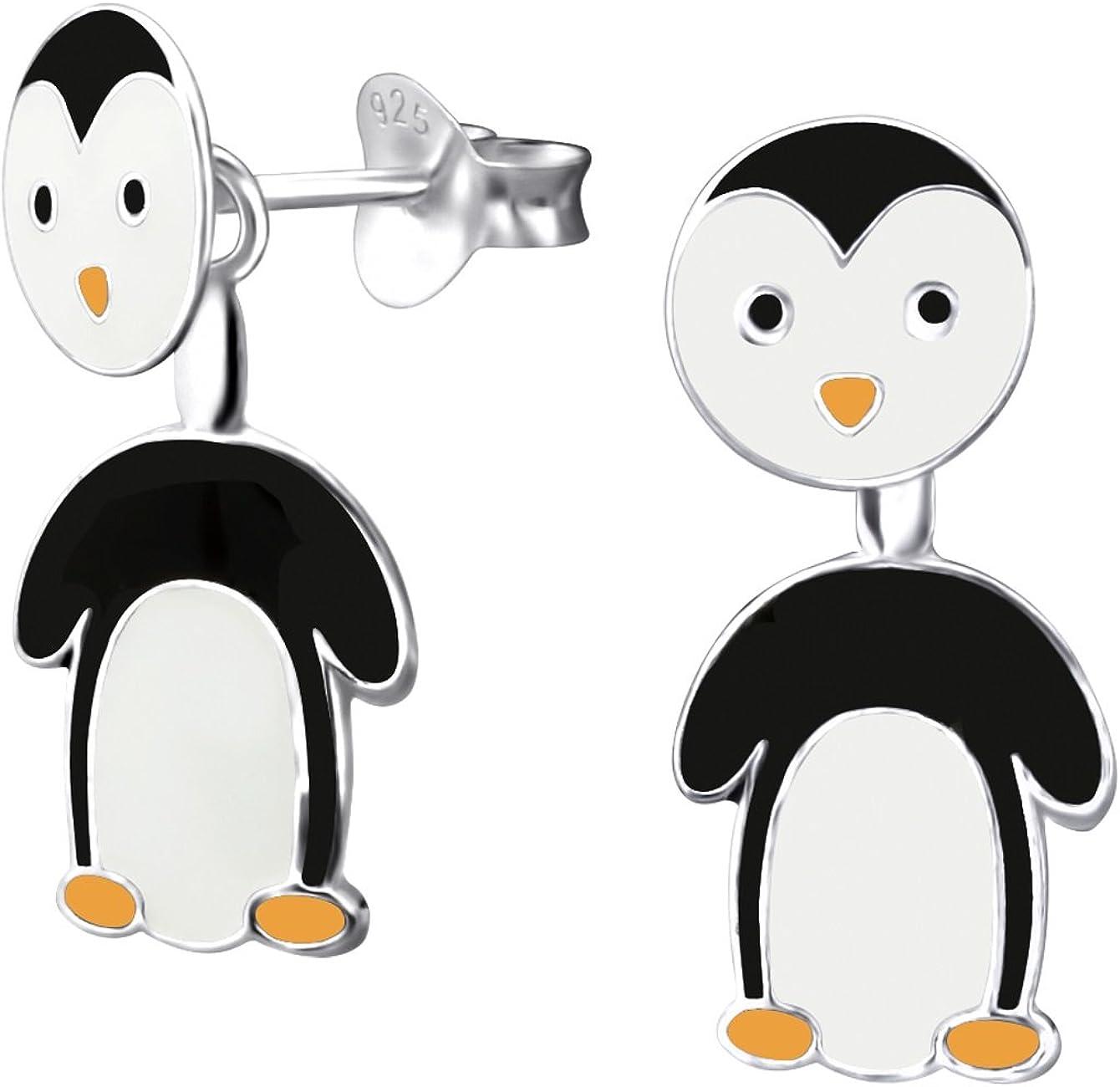 2 Colgantes pingüino encanto de plata tonificada 3D 34x24x14mm
