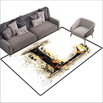 Remarkable Amazon Com Office Chair Floor Mat Foot Pad Letter L Fire Cjindustries Chair Design For Home Cjindustriesco