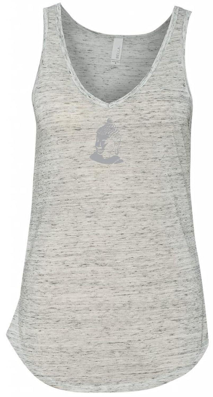 Yoga Clothing For You Ladies Buddha Portait V-Neck Tank Top