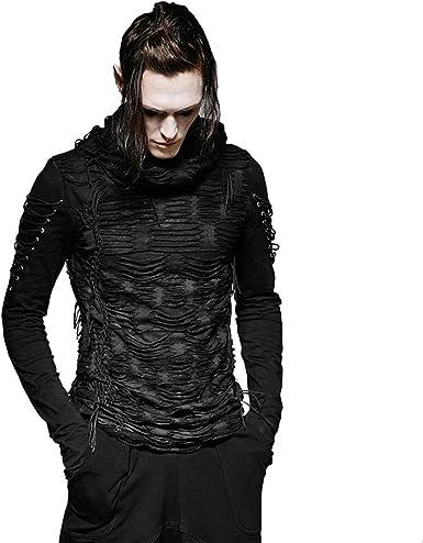 Mens Shirts Tees Tops Hooded Long T-Shirt Men Long Sleeve Hip Hop Hoodie Casual