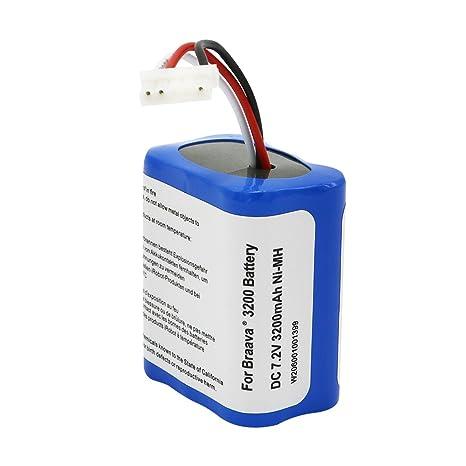 Batería de repuesto de ion de litio para iRobot Braava 380t 380j 320 Mint 5200 5200b