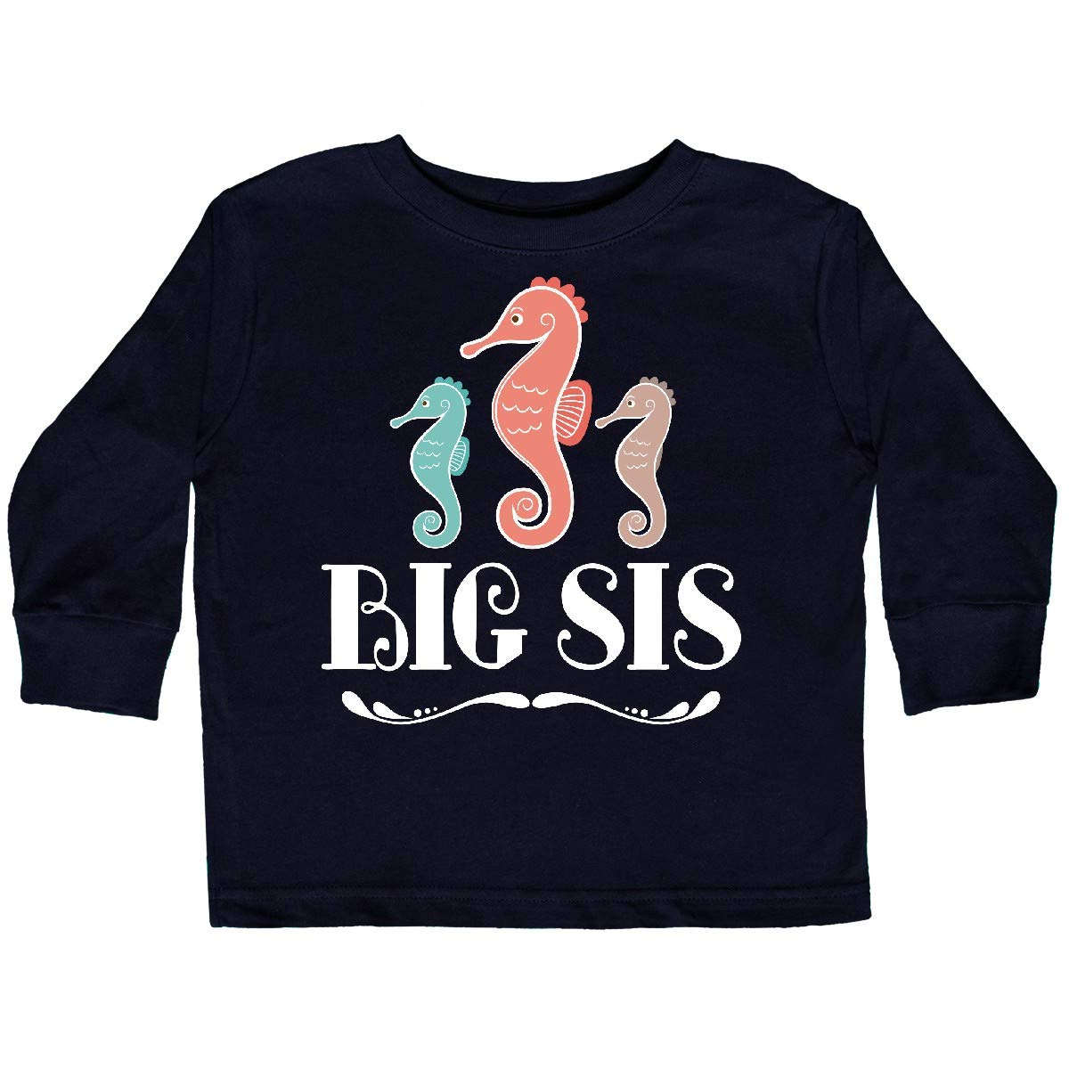 inktastic Sister Announcement Big Sis Outfit Toddler Long Sleeve T-Shirt