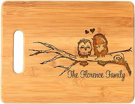 Wood Cutting Board Personalized Cutting Board Couple Cutting Board Engraved Cutting Board Organic Bamboo Cutting Board Custom Monogram Gift