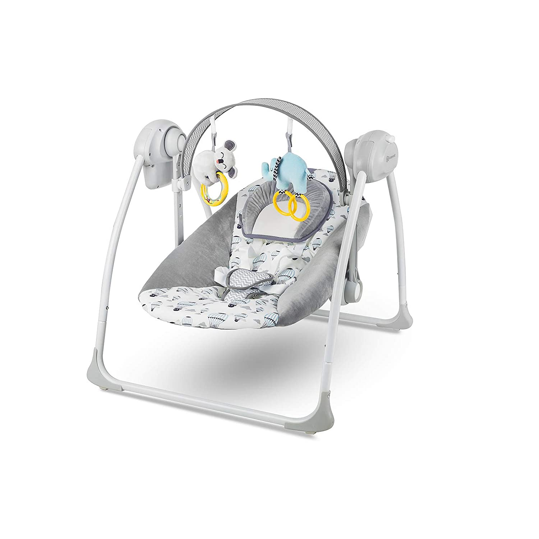 Kinderkraft KKBFLOMINT0000 Babywippe Babyschaukel mit Spielbogen und Melodien, grün grün 4Kraft