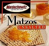 MANISCHEWITZ MATZO UNSALTED, 10 OZ, PK- 12
