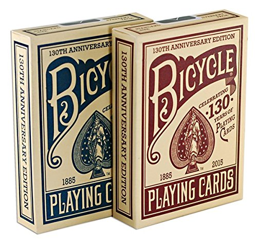 Bicycle 130th Anniversary Playing Cards, Red ()