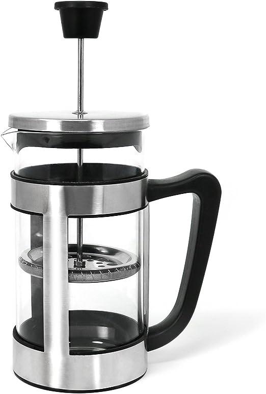 com-four® Cafetera con soporte y filtro de acero inoxidable ...