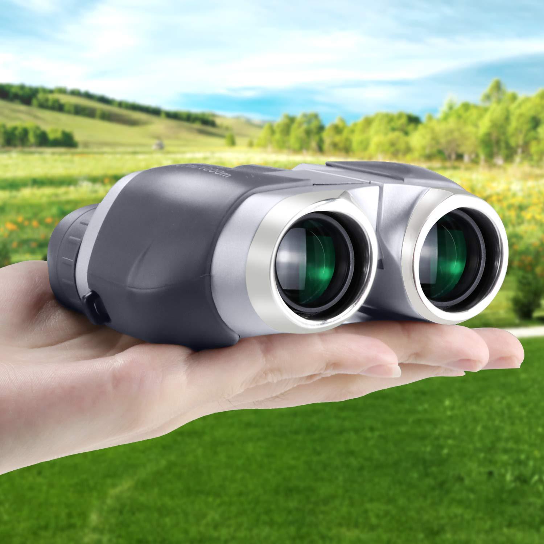 Binoculares para Ni/ños 10 x 22 Prismaticos Profesionales Infantiles Peque/ños y Potentes Bak4 Prisma Largo Alcance Opera Led /& UV Microscopio Binocular