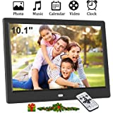 10.1 Inch Digital Photo Frame, 1024x600 (16:9) IPS Screen Smart Electronic Digital Picture Frame, Support SD/USB, 720P…