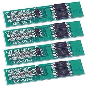 icstation 7,4 V 2,5 A 2S batería de litio Junta de Protección PCB ...
