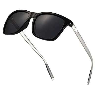 Lunettes de soleil pour hommes femmes polarisées lunettes de soleil  Vintage été plage extérieur Sports 578430e54c84