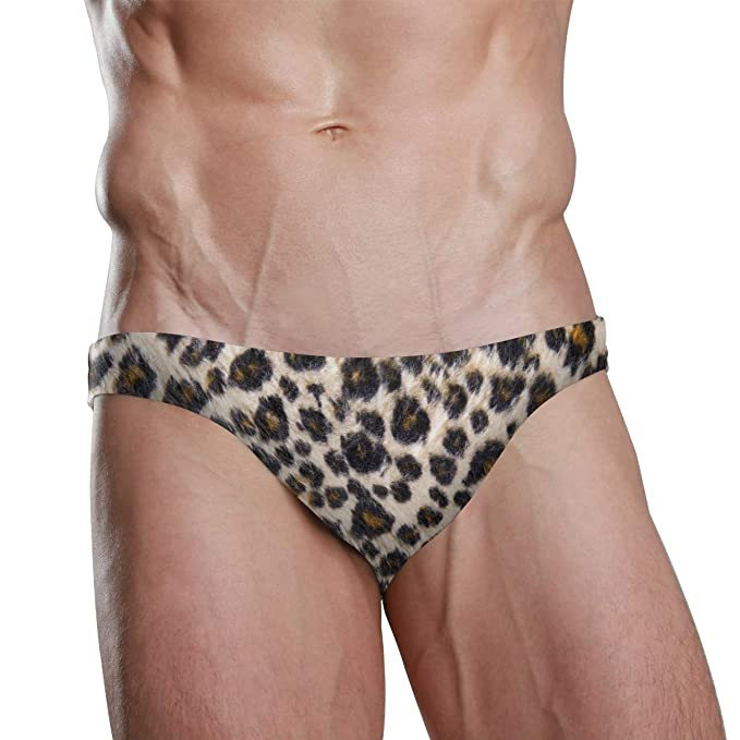 d48d974a22 Image Unavailable. Image not available for. Color: MONTOJ Animal Skin  Pattern Mens Sexy Swim Briefs Bikini ...