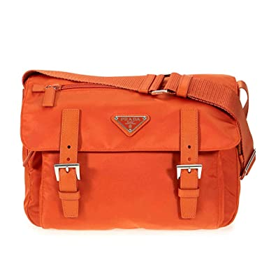 fbf074a9672f Amazon.com: Prada Nylon Messenger Bag - Papaya: Shoes