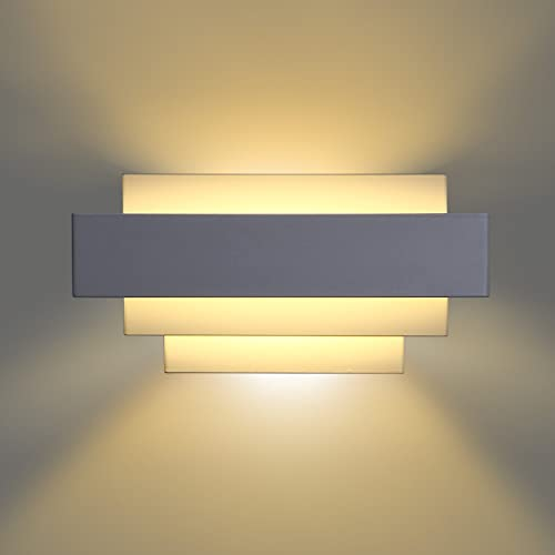 wall lighting bedroom. Albrillo LED Up And Down Wall Lights Bedroom Lamps 10W, Warm White, 800 Lighting