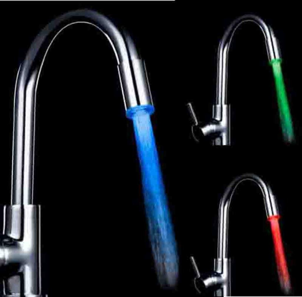 Colorful LED Water Faucet, GOTD Water Stream Faucet Tap, 3 Color Changing Temperature Sensor Kitchen and Bathroom